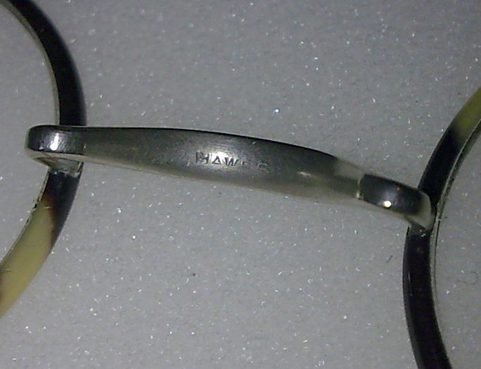 091394f996b Vintage Round Hawes Spectacles OTE Glasses Faux Tortoiseshell Nickel Plated Frames  Circa 1920s Cased